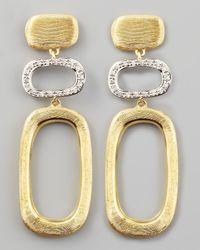 Marco Bicego - Metallic Murano 18k Brushed Gold & Diamond Earrings - Lyst