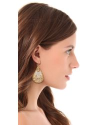 Miguel Ases | Metallic Teardrop Beaded Earrings | Lyst