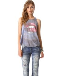 Wildfox - Blue Kissing Under The Stars Tank - Multi - Lyst