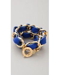CC SKYE | Blue Double Wrap Woven Bracelet | Lyst