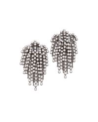 DANNIJO | Metallic Cecile Earrings Oxidized Silverclear | Lyst