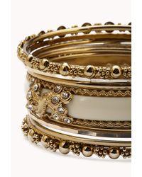 Forever 21 | Metallic Stretchy Beaded Bracelet Set | Lyst