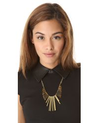 Gemma Redux - Metallic Tortoiseshell Long Drop Necklace - Lyst