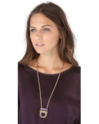 Giles & Brother - Metallic Cortina Pendant Necklace - Lyst