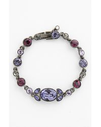 Givenchy | Light Hematitetone Purple Floral Flex Bracelet | Lyst