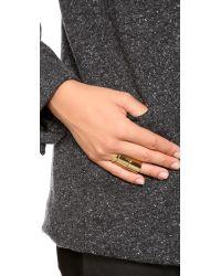 Gorjana - Metallic Camila Beveled Ring Set - Gold - Lyst