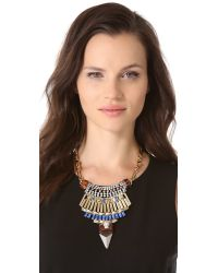 Iosselliani - Multicolor Leopard Head Bib Necklace - Lyst