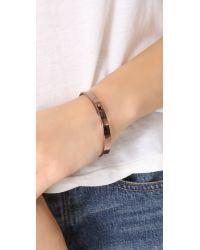 Madewell | Pink Plain Bangle Bracelet | Lyst