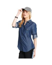 Maison Jules - Blue Longsleeve Chambray Shirt - Lyst