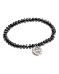 Michael Kors | Black Faceted Pave Charm Bracelet Silver Color | Lyst