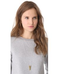 One By | Metallic Alpha Necklace | Lyst