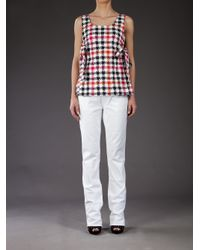RED Valentino - White Straight Leg Jean - Lyst