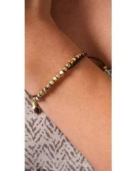 Shashi - Brown Single Petit Golden Nugget Adjustable Bracelet - Lyst