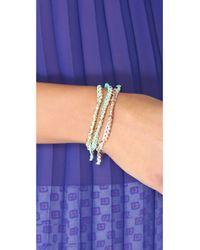 Shashi - Gray Rose Gold Nugget Bracelet - Lyst