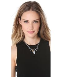Tom Binns - Metallic Crystal Razor Blade Necklace - Lyst