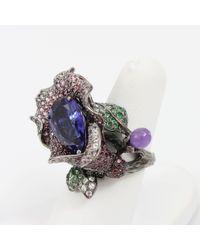 Wendy Yue - Metallic Tanzanite Flower Ring - Lyst