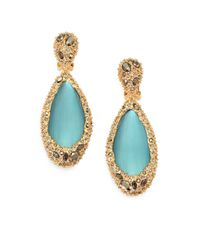 Alexis Bittar | Blue Lucite Crystal Clipon Drop Earrings | Lyst