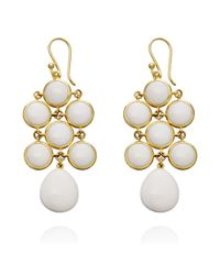 Astley Clarke - White Juliette Earrings - Lyst
