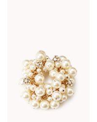 Forever 21 - Natural Opulent Faux Pearl Bracelet - Lyst