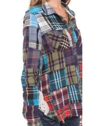 Free People - Multicolor Lost in Plaid Button Down - Lyst