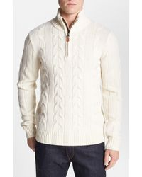 GANT | Natural Cable Knit Merino Wool Sweater for Men | Lyst