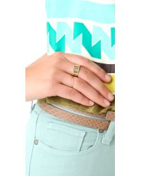 Ginette NY - Metallic Circle Ring - Lyst