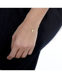 Hillier - Yellow Dotty Heart Bracelet - Lyst