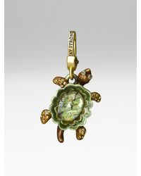 Jay Strongwater - Green Turtle Charm - Lyst