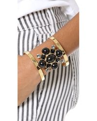 Juicy Couture - Black Cabochon Cluster Open Cuff - Lyst