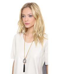 Juicy Couture - Metallic Vintage Tassel Pendant Necklace - Lyst
