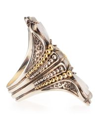 Konstantino | Metallic Iris Threestone Fluted Flower Ring Size 7 | Lyst