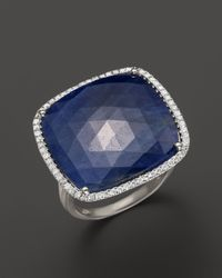 Meira T - 14K White Gold Blue Sapphire And Diamond Ring - Lyst