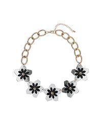 TOPSHOP | White Spike Flower Collar | Lyst