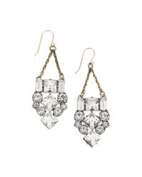 Whistles | Metallic Lulu Frost Art Deco Earring | Lyst