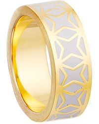 Astley Clarke - Metallic Moonlight Star Mosiac 18ct Gold Vermeil Ring - Lyst