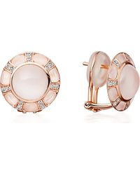 Astley Clarke | Pink Ruthie 18Ct Rose Gold Moonstone Stud Earrings | Lyst