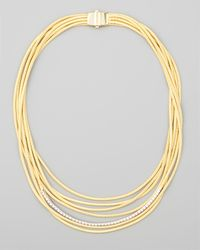 Marco Bicego | Metallic Diamond Cairo 18k Seven-strand Necklace | Lyst