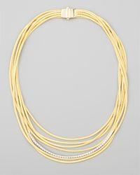 Marco Bicego - Metallic Diamond Cairo 18k Seven-strand Necklace - Lyst