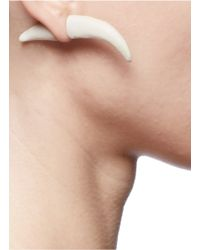 Os Accessories | White Dogtooth Earring | Lyst