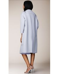 Burberry - Purple Double Angora and Wool Shell Coat - Lyst