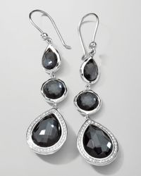Ippolita | Metallic Stella 3-drop Earrings In Hematite & Diamonds | Lyst