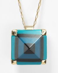 kate spade new york - Metallic Pyramid Hill Pendant Necklace 32 - Lyst