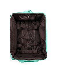 "Lipault | Blue Foldable 22"" Wheeled Carry On Bag - Teal | Lyst"