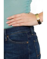 Lizzie Fortunato - Black Darby Leather With Plate Bracelet - Lyst