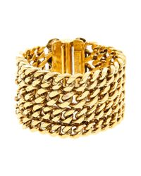 Lizzie Fortunato | Metallic Large Chainmail Cuff | Lyst