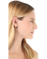 Marc By Marc Jacobs - Metallic Link To Katie Stud Earrings - Lyst