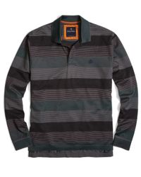Brooks Brothers - Gray Yarn-dyed Oxford Stripe Golden Fleece® Polo for Men - Lyst