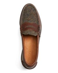 Brooks Brothers - Brown Rancourt & Co. Wool Plaid Penny Loafers for Men - Lyst