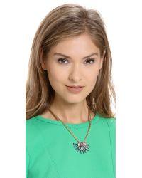 Elizabeth Cole - Multicolor Crystal Pendant Necklace - Lyst