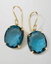 Ippolita - 18k Rock Candy Gelato Kiss Drop Earrings in London Blue Topaz - Lyst